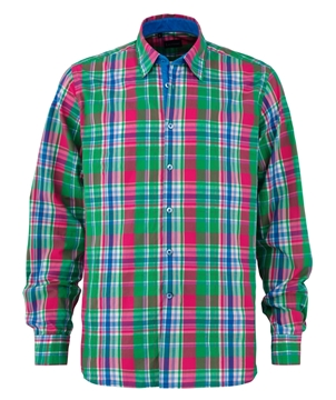 Bilde av Lacrosse Checked Linen Shirt Mod. Fit