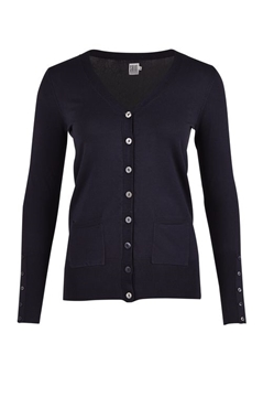 Bilde av Saint Tropez Long Cardigan W Sl Placket