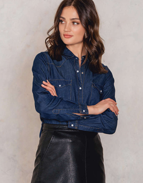 Bilde av Rut & Circle Sofia Denim Shirt
