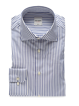 Bilde av John Henric Blue Striped Poplin Shirt