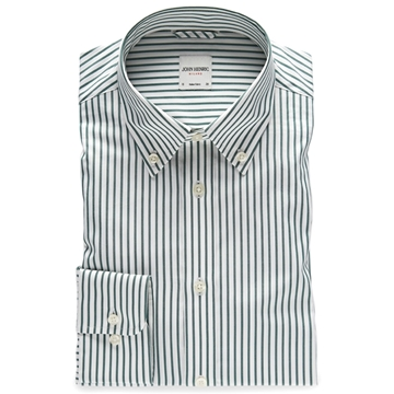 Bilde av John Henric Green Striped Button Down Shirt